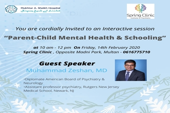 "Interactive session on ""Parent-Child Mental Health & Schooling"""