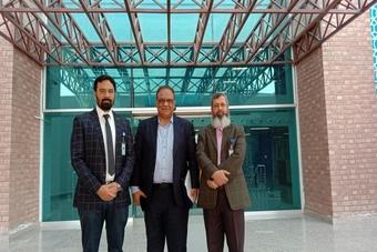 Dr. Sohail Saleem, Director Medical & Sports Sciences, Pakistan Cricket Board visited Mukhtar A. Sheikh Hospital.