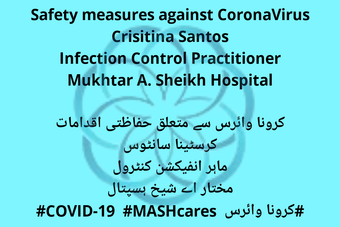 A public service message by MASH on how to stay safe from CoronaVirus.