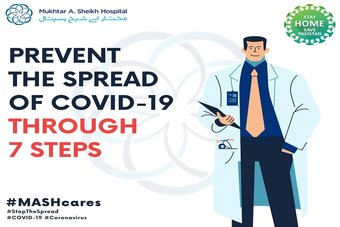Prevent the spread of COVID-19 through 7 steps.