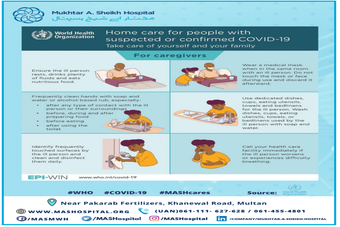 Home care for people with suspected or confirmed COVID-19.