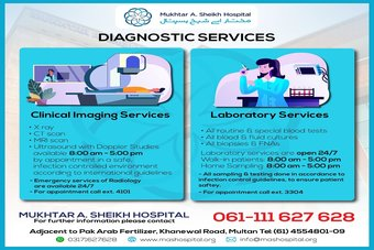 MASH Diagnostic Services are open