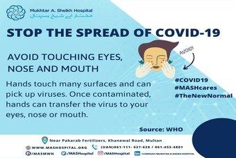 Stop the spread of COVID-19.