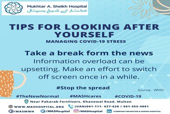 Tips for looking after yourself; Managing COVID-19 stress.