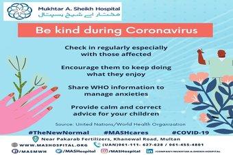 Be kind during coronavirus.
