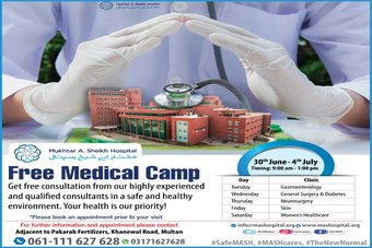Free Medical Camp at Mukhtar A. Sheikh Hospital