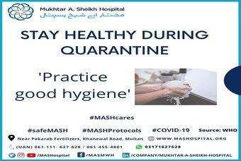Covid-19 Advisory: Stay healthy during Quarantine.
